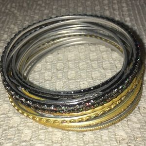 Soft Metal Bangle Bracelets Bundles Lot 16